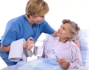 Seniorenbetreuung, Zahnpflege im Alter, Alterszahnheilkunde , Prothesenreinigung